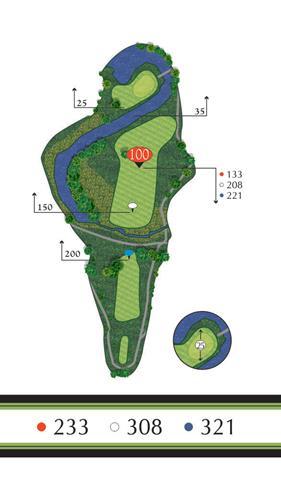 Golf Regina - Hole 2 Flowing Springs Golf Greens
