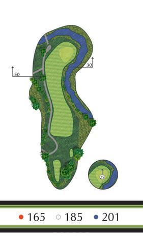 Golf Regina - Hole 5 Flowing Springs Golf Greens