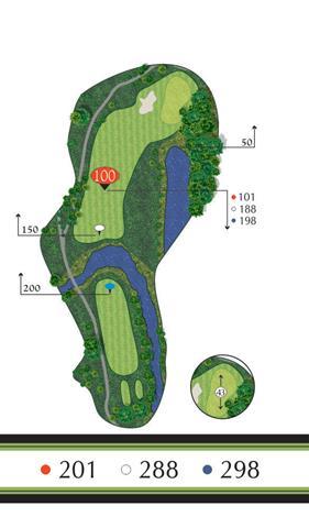 Golf Regina - Hole 7 Flowing Springs Golf Greens