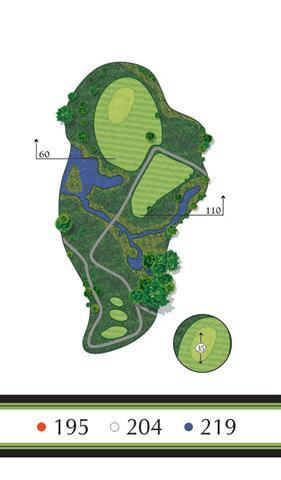 Golf Regina - Hole 8 Flowing Springs Golf Greens