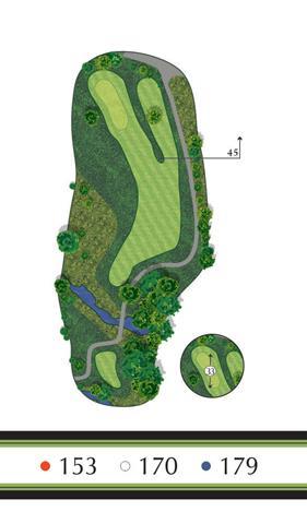 Golf Regina - Hole 9 Flowing Springs Golf Greens